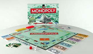 This undated product image released by Hasbro shows a limited edition of the popular Monopoly board game. (AP Photo/Hasbro)