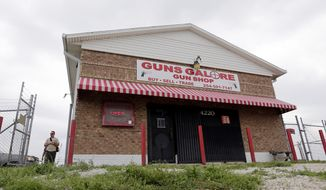 According to Lt. Gen. Mark Milley, Ivan Lopez, the shooter, purchased his weapon recently at Guns Galore, seen Thursday, April 3, 2014, in Killeen, Texas. A soldier opened fire Wednesday on fellow service members at the Fort Hood military base, killing three people and wounding 16 before committing suicide. (AP Photo/Eric Gay)