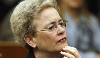 In this Thursday, May 1, 2008, file photo, U.S. District Judge Rosemary M. Collyer attends a ceremony at the federal courthouse in Washington. (AP Photo/Charles Dharapak)