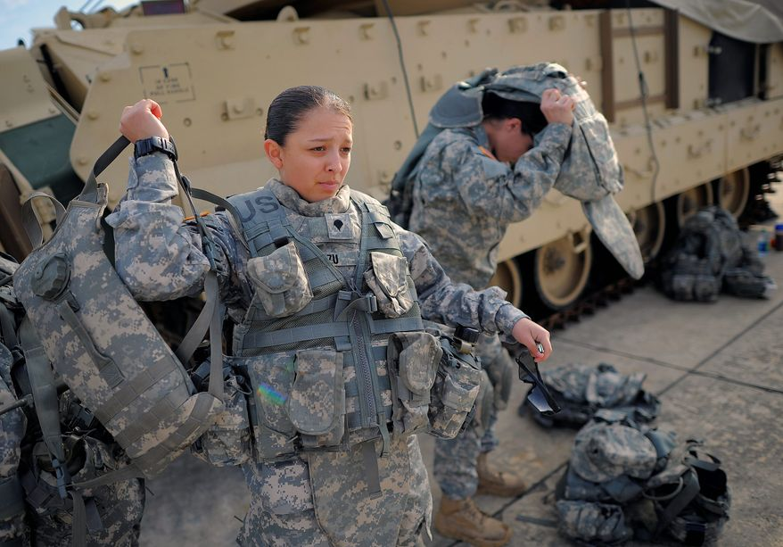 """The Pentagon said 4 percent of all active-duty military women in 2010 and 6 percent in 2012 were victims of """"unwanted sexual contact"""" in the previous 12 months. (Associated Press)"""