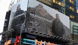Samsung's promotional use of President Obama's selfie with Boston Red Sox star David Ortiz recalls the Weatherproof Garment Co. putting Mr. Obama on a billboard over Times Square four years ago. (Associated Press)