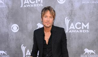 ** FILE ** Keith Urban arrives at the 49th annual Academy of Country Music Awards at the MGM Grand Garden Arena on Sunday, April 6, 2014, in Las Vegas. (Photo by Al Powers/Powers Imagery/Invision/AP)