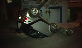 Vandals have been flipping Smart cars in San Francisco in what appears to be a bizarre twist on cow tipping. (NBC Bay Area)