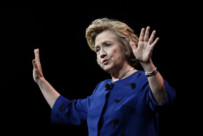 ** FILE ** Former Secretary of State Hillary Rodham Clinton. (AP Photo/Ben Margot)
