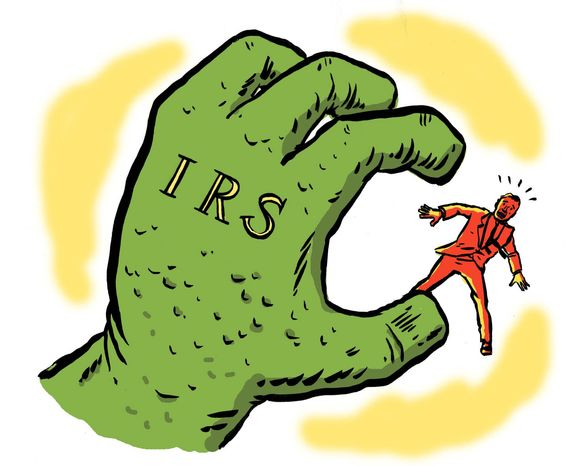 Illustration on IRS abuses by Mark Weber/ Tribune Content Agency