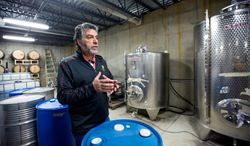 'How it started' Louizos Papadopoulos, owner of Molon Lave Vineyards, says he began making kosher wines at the suggestion of some friends in New York. (Eva Russo/Special to The Washington Times)