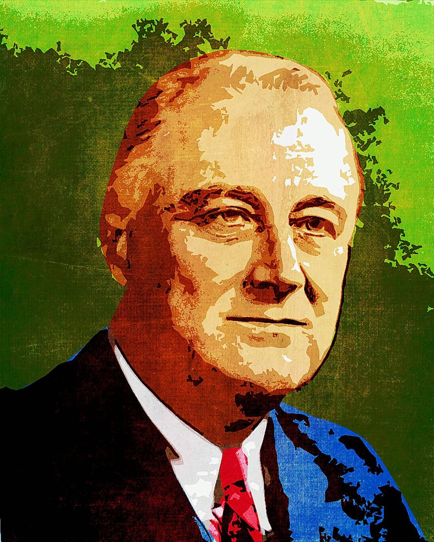 Franklin Delano Roosevelt Illustration by Greg Groesch/The Washington Times