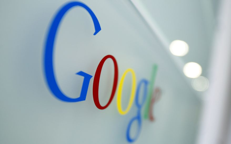 ** FILE ** In This March 23, 2010, file photo, the Google logo is seen at the Google headquarters in Brussels. (AP Photo/Virginia Mayo, File)