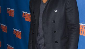 "FILE - In this April 2, 2014 file photo, Michael Strahan attends the opening night performance of ""A Raisin in the Sun"" in New York. Strahan has made good on reports that he is joining ""Good Morning America"" by paying a visit to the ABC breakfast show on Tuesday, April 15. (Photo by Charles Sykes/Invision/AP, File)"