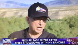 """Former Arizona sheriff Richard Mack says he and other organizers at Cliven Bundy's ranch in Nevada were contemplating using women and children as human shields in case """"rogue federal officers"""" opened fire. (Fox News via YouTube)"""