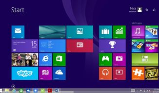 This screen shot shows the Windows 8.1 start screen. Seeing sales of smartphones and tablets grow rapidly, Microsoft reshaped its Windows operating system so that PCs came to look, work and feel more like smartphones and tablets. (AP Photo)