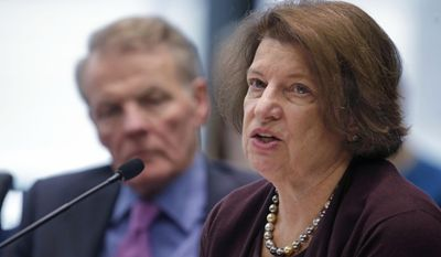Susan Sher, Senior Advisor to the President of The University of Chicago, right, and Illinois House Speaker Michael Madigan, appear before an Illinois House committee meeting Thursday, April 17, 2014, in Chicago, regarding a plan to devote $100 million in state funds to help bring President Barack Obama's presidential museum and library to Chicago. Sher, Madigan, and Mayor Rahm Emanuel were among several officials who spoke in favor of the funding. The $100 million for construction costs would be part of a new capital construction plan, which the Legislature still must approve. (AP Photo/M. Spencer Green)