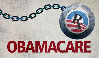 Obamacare Chain Logo Illustration by Greg Groesch/The Washington Times
