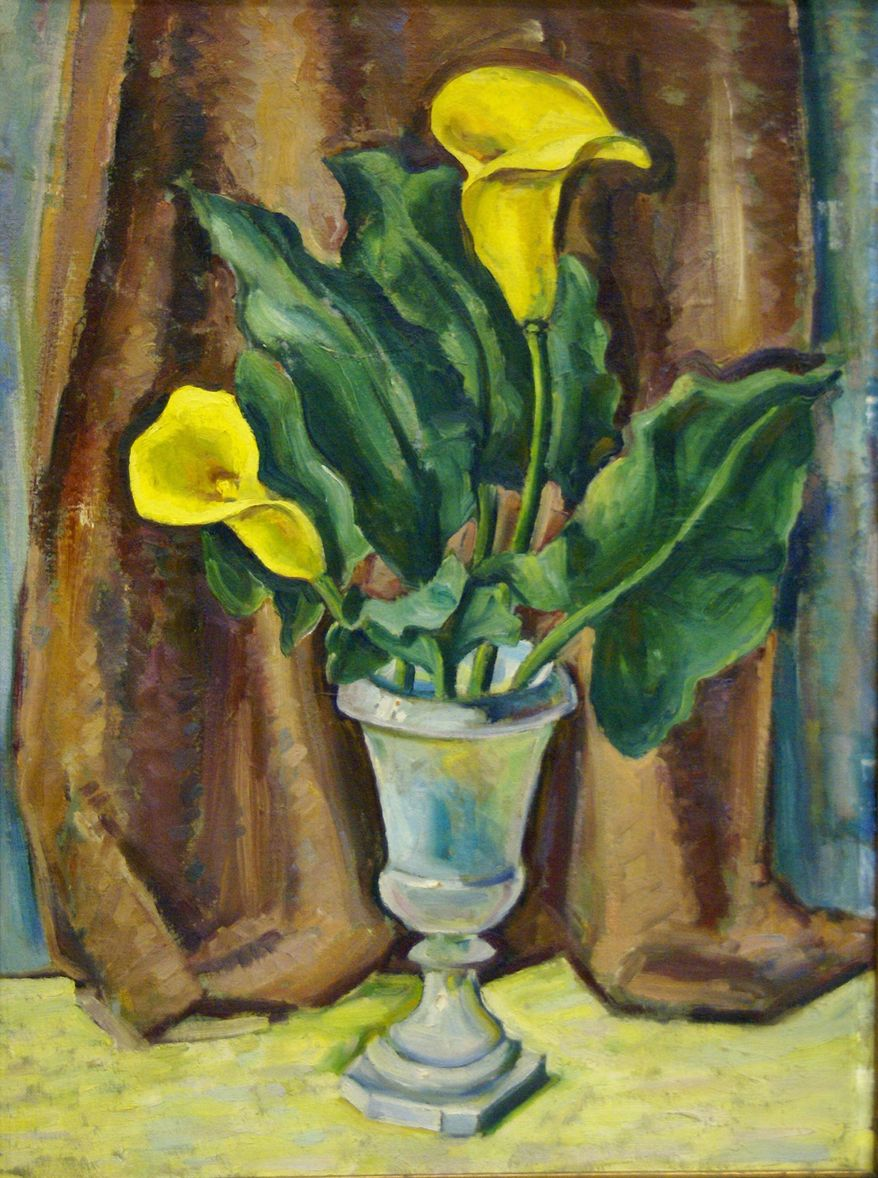 Two Callas, one of the WPA artwork recovered by the GSA.