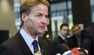 FILE - In this Jan. 14, 2014 file photo, U.S. Attorney Zachary Fardon speaks to reporters after the sentencing of Beanie Babies creator H. Ty Warner in Chicago. The U.S. attorney's office for northern Illinois is getting a makeover under its new chief, Zachary Fardon.  Office spokesman Randall Samborn talked for the first time Monday, April 21, 2014, about the reorganization of one of the busiest districts in the country. It changes went into effect at the beginning of April. (AP Photo/Andrew A. Nelles, File)
