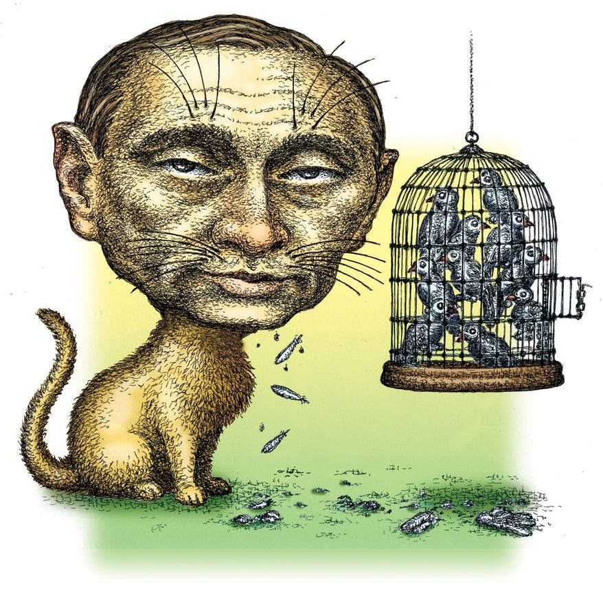 Illustration of Vladimir Putin by Kevin Kreneck/Tribune Content Agency
