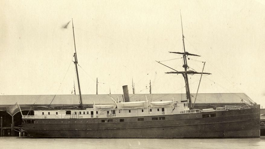 This undated image provided by the National Oceanic and Atmospheric Administration (NOAA) and San Francisco Maritime National Historic Park shows the iron and wood steamship City of Chester. In 1888, on a trip from the San Francisco bay to Eureka, the Chester was split in two by a ship more than twice its size, killing 16 people and becoming the bay's second-worst maritime disaster. Now, more than a century later, a National Oceanic and Atmospheric Administration team has found the shipwreck. The team came upon the wreckage in 217 feet of water just inside the Golden Gate while it was charting shipping channels. (AP Photo/National Oceanic and Atmospheric Administration and San Francisco Maritime National Historic Park)