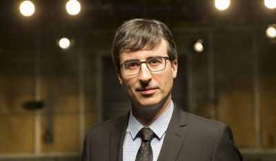 """This undated image released by HBO shows host John Oliver of """"Last Week Tonight with John Oliver,"""" airing Sundays at 11 p.m. EDT. (AP Photo/HBO)"""