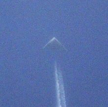 A photo of a mystery jet seen over Kansas and Texas that some believe may be a prototype for a new bomber. (Theaviationist.com)
