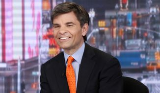 George Stephanopoulos during an ABC broadcast. (AP Photo/ABC, Heidi Gutman, File)