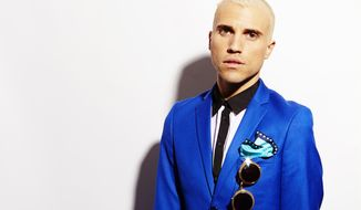 "Tyler Glenn, frontman of the band Neon Trees, poses for a portrait to promote the band's upcoming third album, ""Pop Pyschology,"" on Tuesday, April 22, 2014 in New York. (Photo by Dan Hallman/Invision/AP)"