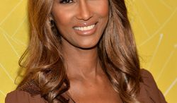 "Model Iman attends Variety's ""Power of Women: New York"" luncheon at Cipriani Midtown on Friday, April 25, 2014 in New York. (Photo by Evan Agostini/Invision/AP)"