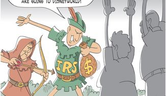 Illustration on IRS scandal by M.R. Herron