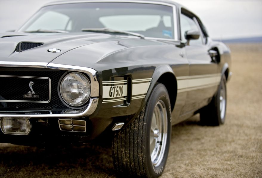 ** FILE ** A 1969 Ford Shelby Mustang GT500 Cobra Jet (AP Photo/Centre Daily Times, Abby Drey) MANDATORY CREDIT; MAGS OUT