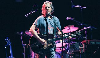 Jeff Bridges performs onstage with his band the Abiders at the Lebowski Fest on Friday, April 25, 2014 in Los Angeles. (Photo by Richard Shotwell/Invision/AP)