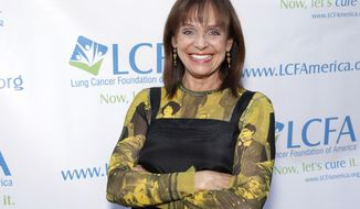 "FILE - In this Sunday, Sept. 29, 2013, file photo, Valerie Harper attends the ""Lung Cancer: Bring On The Change!"" Event in Los Angeles. The playwright of Harper's Broadway show ""Looped"" claims in a lawsuit the actress didn't disclose she had cancer until after she signed to star in the play. The suit says the 74-year-old ""Rhoda"" star knew in 2009 she had lung cancer but ""knowingly withheld the truth."" The $2 million suit, filed in Manhattan federal court, was a counterclaim to one Harper filed demanding she be paid for the production she left for health reasons. (Photo by Todd Williamson/Invision/AP, File)"