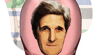Soft Soap Kerry Illustration by Greg Groesch/The Washington Times