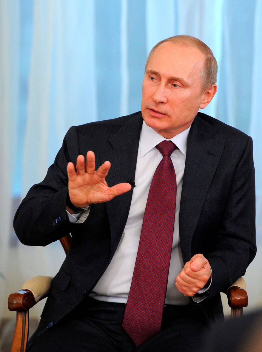 Concerns that the government of Russian President Vladimir Putin is exacerbating the widening destabilization of Ukraine has drawn a U.S. military presence to provide a show of force and contain the crisis. (Associated Press)