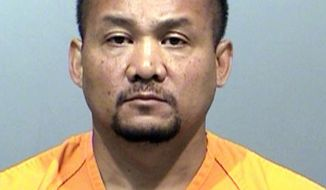 This photo released on April 29, 2014 by the Jefferson County District Attorney shows an undated booking photo of former Denver sheriff's division chief Michael Than.  Authorities say Than stole more than $20,000 worth of tax software by hiding it in other merchandise at Target stores. Court documents released Tuesday, April 29, 2014,  say Than hid boxes of Turbo Tax software in other items such as bags of dog food, a cooler and a padded envelope, then paid for those items instead. Investigators say he resold the software on eBay between February 2010 and January 2013, earning more than $60,000. Than was indicted on charges including tax evasion, theft and filing false tax returns.(AP Photo/Jefferson County District Attorney)