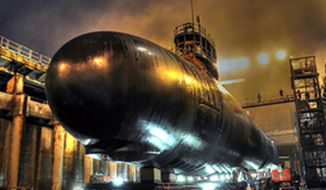 ** FILE ** North Dakota (SSN-784), the U.S. Navy's newest and most advanced nuclear attack submarine. (General Dynamics)