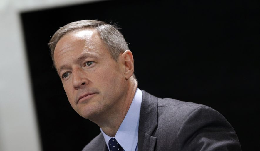 ** FILE ** In this Jan. 8, 2014, file photo, Maryland Gov. Martin O'Malley speaks during a roundtable interview in Annapolis, Md. (AP Photo/Patrick Semansky, File)