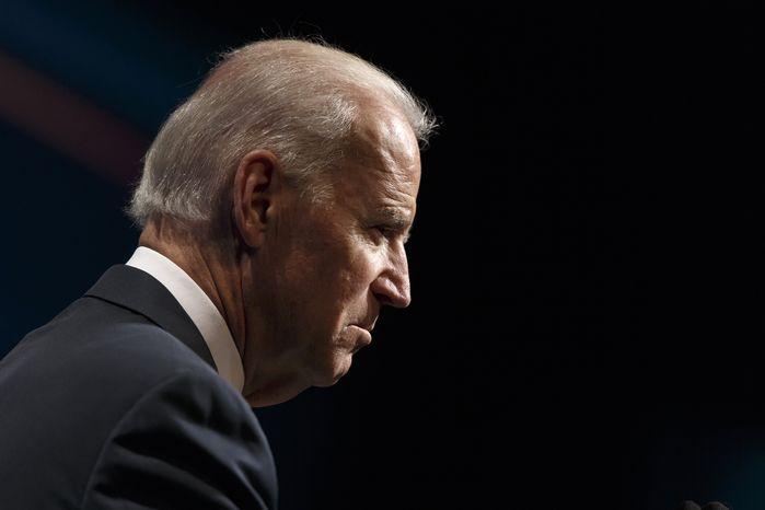 Vice President Joe Biden addresses the Motion Picture Association of America's creativity conference at the Newseum in Washington, Friday, May 2, 2014.  (AP Photo/J. Scott Applewhite)