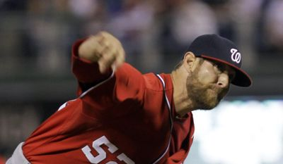Washington Nationals pitcher Ryan Mattheus throws in the fifth inning of a baseball game against the Philadelphia Phillies, Saturday, May 3, 2014, in Philadelphia. (AP Photo/Laurence Kesterson)