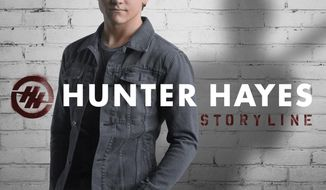 "This CD cover image released by Atlantic Records shows ""Storyline,"" the latest release by Hunter Hayes. (AP Photo/Atlantic Records)"
