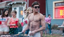 """This image released by Universal Pictures shows Zac Efron in a scene from """"Neighbors."""" (AP Photo/Universal Pictures, Glen Wilson)"""