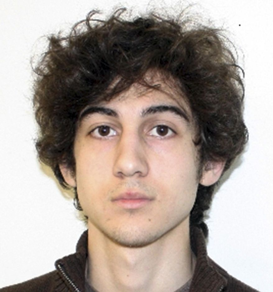 FILE - This file photo by the Federal Bureau of Investigation shows Dzhokhar Tsarnaev, surviving suspect in the Boston Marathon bombings who is accused in two bombings that killed three people and injured more than 260 others near the finish line of the April 15 marathon. Lawyers for Boston Marathon bombing suspect Dzhokhar Tsarnaev argued Wednesday, May 7, 2014, that statements he made to authorities after he was arrested should be thrown out because he was questioned for 36 hours in a hospital room while suffering from gunshot wounds and without being told his rights.  (AP Photo/Federal Bureau of Investigation, File)