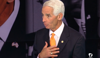 "**FILE** Former Florida Gov. Charlie Crist said in an interview Tuesday that the primary reason he left the Republican Party is because of its ""intolerable"" racism. (Fusion)"
