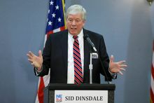 From left field: Sid Dinsdale could find an opening between the bitterly split front-runners in the GOP race for Senate, which will be decided Tuesday.