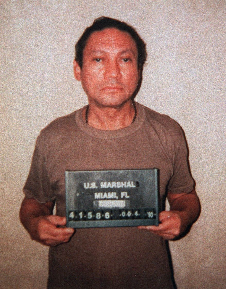 FILE - In this  Jan. 1990, U.S. Marshalls file photo, deposed Panamanian Gen. Manuel Antonio Noriega is seen at an undisclosed location. A U.S. official says Secretary of State Hillary Rodham Clinton has signed off on the extradition of former Panamanian dictator Manuel Noriega to France, Monday, April 26, 2010. (AP Photo)