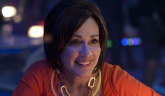 """This photo released by TriStar Pictures, AFFIRM Films/Provident Films shows Patricia Heaton in a scene from the family comedy, """"Moms' Night Out."""" The movie releases in theaters nationwide Friday, May 9, 2014. (AP Photo/TriStar Pictures, AFFIRM Films/Provident Films, Saeed Adyani)"""