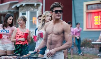 "This image released by Universal Pictures shows Zac Efron in a scene from the film, ""Neighbors."" In the upcoming months, charming indies and raunchy comedies, starting with Friday, May 9, 2014 release of ""Neighbors,"" will appeal to those looking for films that reflect their own lives. (AP Photo/Universal Pictures, Glen Wilson)"