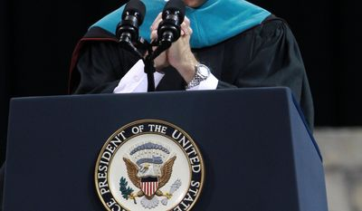 Vice President Joe Biden delivers the keynote speech during commencement exercises at the University of South Carolina in Columbia, S.C., Friday, May 9, 2014. (AP Photo/The State, Tracy Glantz) ALL LOCAL MEDIA OUT, (TV, ONLINE, PRINT)