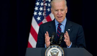 Vice President Joseph R. Biden Jr. reportedly blamed the decline of America's middle class on deep problems that began when Bill Clinton was president. (Associated Press)