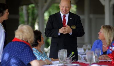 In a Friday, May 9, 2014 photo, South Carolina Maj. Gen. Robert Livingston speaks with attendees during a republican candidate forum at the Hilton Head Island Republican Club, in Hilton Head Island, SC.  The two-star Army National Guard general commanded the state's largest military deployment since World War II in combat in Afghanistan. Livingston will campaign for a second term as the state's adjutant general. South Carolina is the only state in the nation where voters choose their top military officer in a general election. (AP Photo/Stephen B. Morton, file)