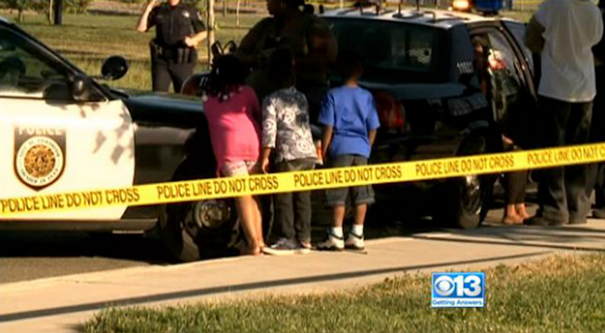 A man is dead after gunmen stormed a 1-year-old's birthday party in a Sacramento park and opened fire, injuring six others including a 7-year-old child. (CBS 13 Sacramento)