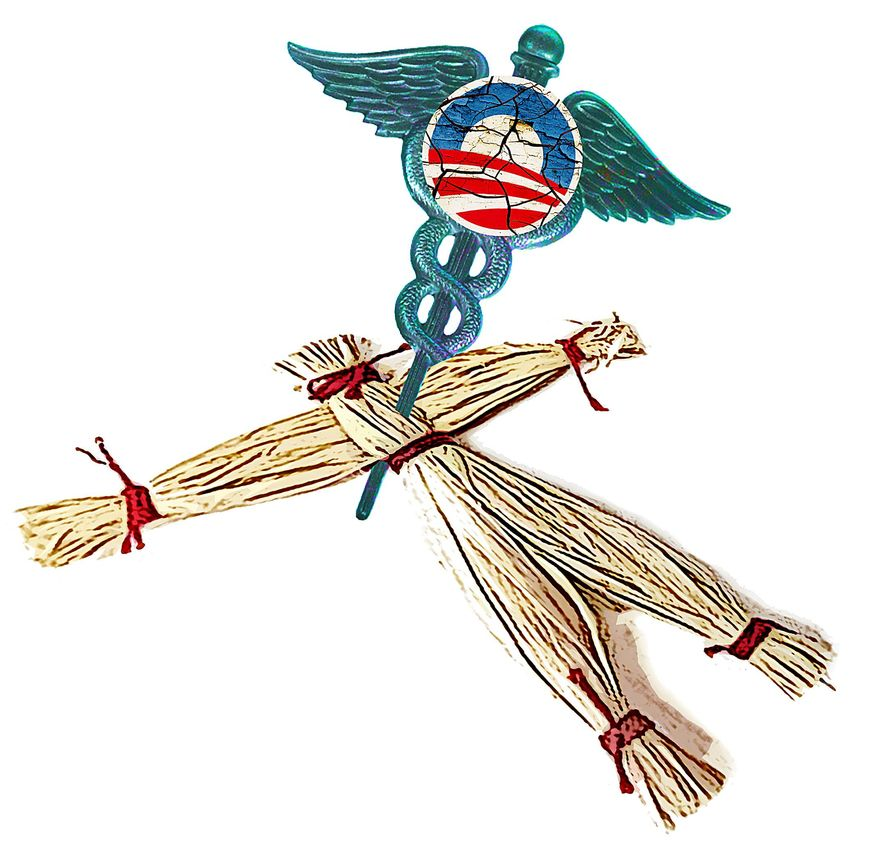 Voodoo Healthcare Illustration by Greg Groesch/The Washington Times